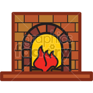 fireplace vector icon clipart. Royalty-free image # 407241