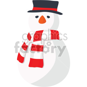 christmas snowman icon clipart. Royalty-free image # 407296