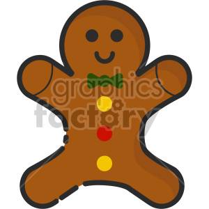 gingerbread man christmas icon clipart. Royalty-free image # 407316