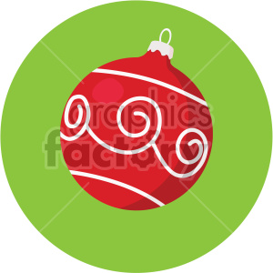 christmas ornament on green circle background icon clipart. Royalty-free image # 407321