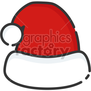 santa hat christmas icon clipart. Royalty-free image # 407337