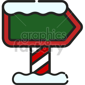 blank north pole sign christmas icon