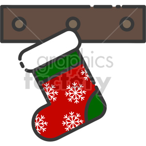 stocking christmas icon clipart. Commercial use image # 407341
