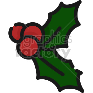 mistletoe christmas icon clipart. Commercial use image # 407348