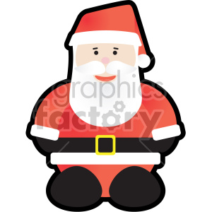 christmas santa outlined clipart. Commercial use image # 407356