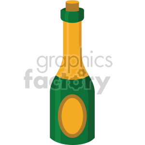 champagne bottle no background clipart. Commercial use image # 407381