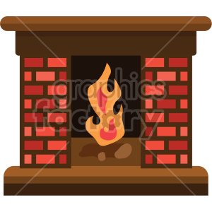 fireplace no background clipart. Commercial use image # 407391