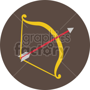 cupids bow and arrow for valentines vector icon on brown background clipart. Royalty-free image # 407450