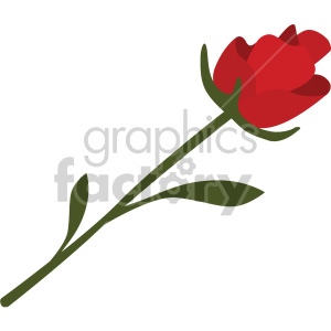 single red rose vector icon no background clipart. Commercial use image # 407462