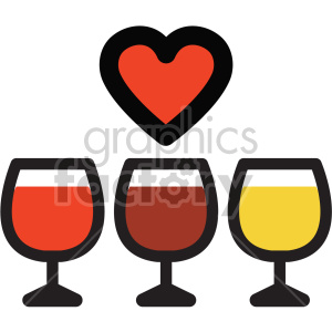 wine glass icon for valentines day party clipart. Commercial use image # 407477