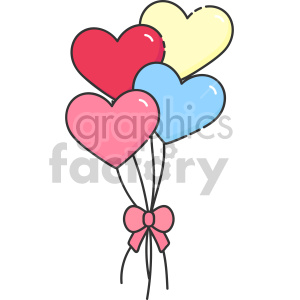 heart balloons clipart. Royalty-free icon # 407478