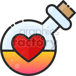 love potion icon clipart. Commercial use image # 407493