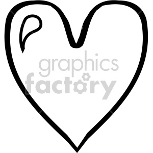 heart outline  clipart. Royalty-free icon # 407514