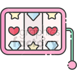 slot machine of love clipart. Commercial use image # 407564