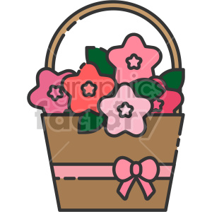 flower basket clipart. Royalty-free icon # 407572