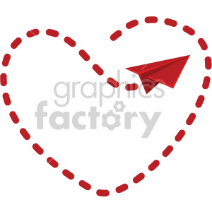 love letter flight pattern for valentines no background clipart. Royalty-free image # 407600