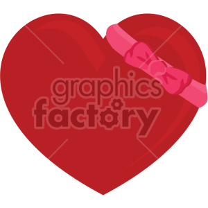 heart with bow for valentines no background clipart. Commercial use image # 407603