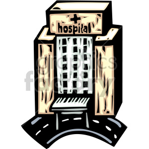 cartoon hospital clipart. Royalty-free image # 149503
