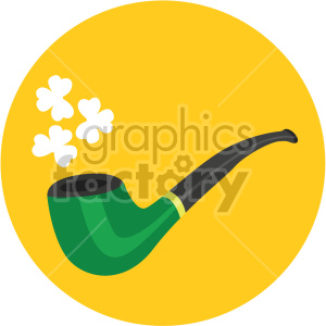 st patricks day pipe yellow background clipart. Commercial use image # 407647
