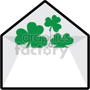 st patricks day envelope no background clipart. Commercial use image # 407649