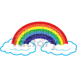 rainbow on two clouds clipart. Commercial use icon # 407688