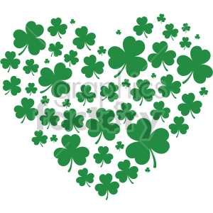 shamrock heart design clipart. Commercial use image # 407748