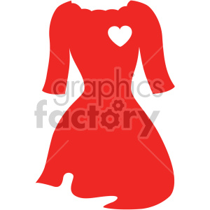 red dress with arms svg cut file clipart. Commercial use image # 407755
