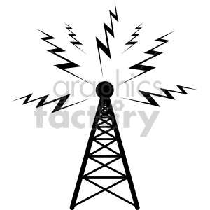 radio tower clipart. Royalty-free image # 407782