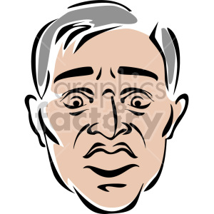 surprised man face outline clipart. Royalty-free image # 157259