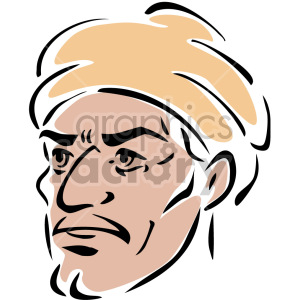 man wearing a turban clipart. Commercial use image # 157299