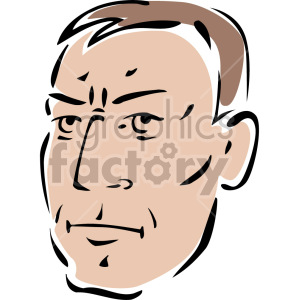angry man's face clipart. Royalty-free image # 157317