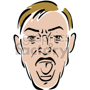 man yelling clipart. Royalty-free image # 157335