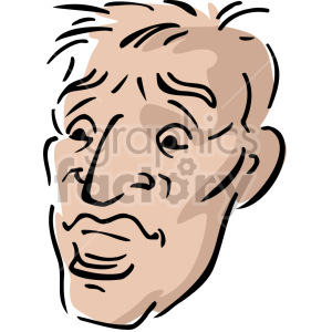 male face clipart. Royalty-free image # 157347