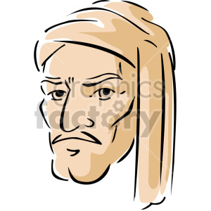 Middle Eastern man clipart. Commercial use image # 157355