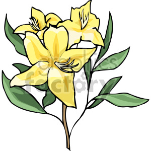 cartoon flower clipart. Royalty-free image # 151107