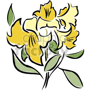 yellow flowers clipart. Royalty-free image # 151151