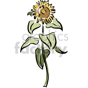 sunflower art clipart. Royalty-free image # 151191