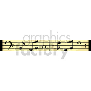 Musical notes clipart. Royalty-free image # 166992