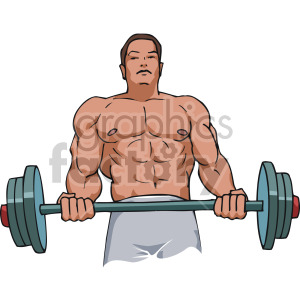 bicep curl clipart. Commercial use image # 170209