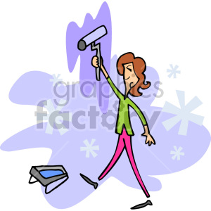 lady painting with a roller clipart. Royalty-free image # 155283