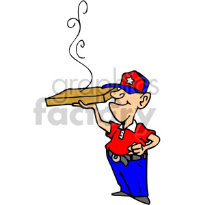 Patriotic pizza delivery man clipart. Royalty-free image # 149332