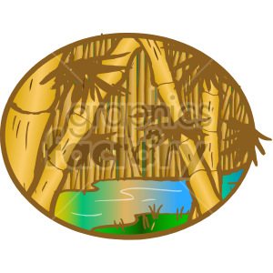 bamboo forest along a river clipart. Royalty-free image # 163861