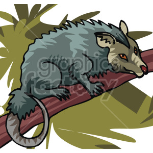 possum  clipart. Royalty-free image # 129294