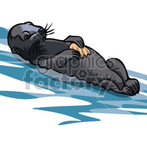 otter clipart. Royalty-free image # 129354