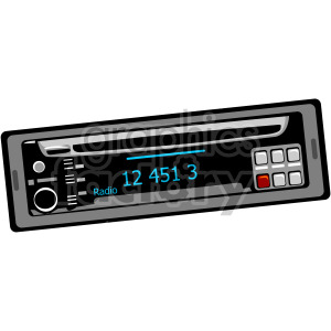 car radio clipart. Commercial use image # 172218