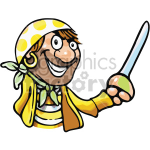 cartoon pirate clipart. Royalty-free image # 407790
