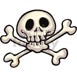 cartoon skull clipart. Royalty-free image # 407806