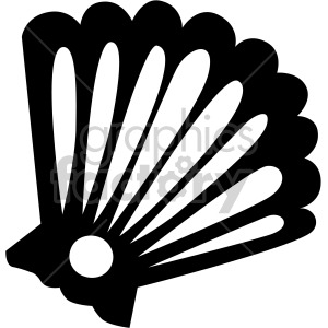 black and white clam clipart. Commercial use image # 407824