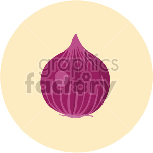 beet on yellow circle background clipart. Commercial use image # 407996