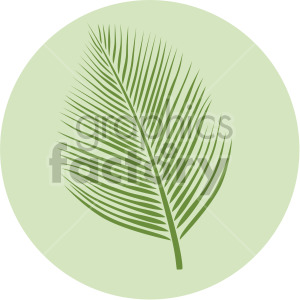 palm leaf on green circle background clipart. Commercial use image # 408078